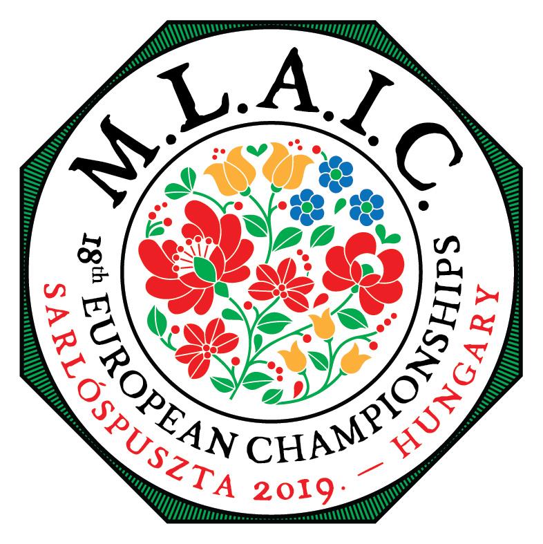 2019 MLAIC Európabajnokság logó_színes hímzés_S