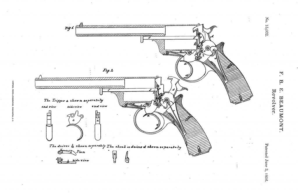 A Beaumont-Adams revolver szabadalma
