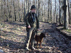 Bényei Tamás vérebvezető, utánkereső vadász