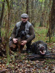 Horváth Zoltán vérebvezető utánkereső vadász