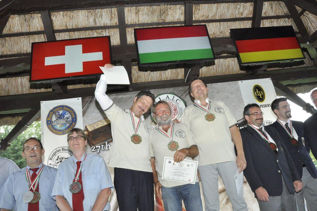 Hadipuskás világbajnok csapat: Németh Balázs, Nyitrai József, Tar Mihály
