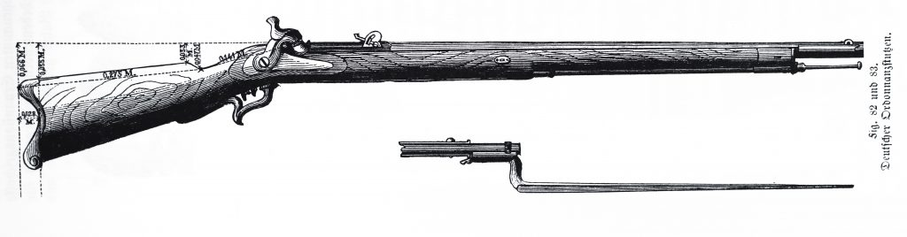 Original drawing of the rifle