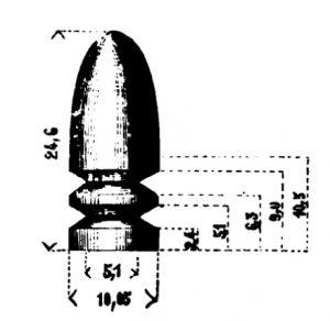 The Model 1856 bullet