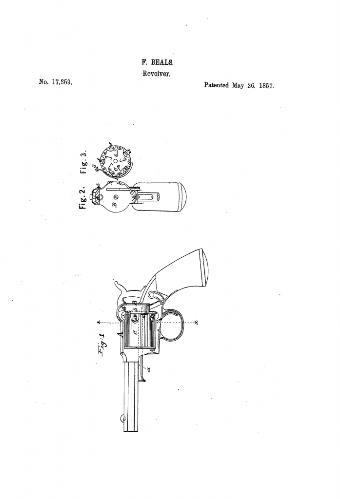 Beals' patent for the locking mechanism