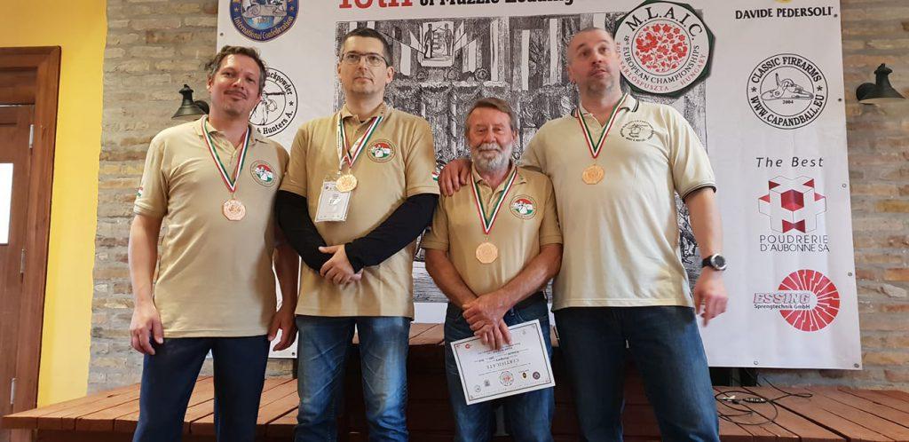 Augusztus 15-i érmeseink: Dobos Tamás, Nyitrai József, Németh Balázs, Mészáros Gyula